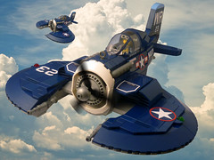 P-65 Tomahawk (JonHall18) Tags: lego moc dieselpunk fantasy fighter plane aircraft pilot world war