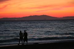 Arillas beach - sunset (gab113) Tags: grece greece corfou corfu sunset plage beach ombre orange soleil mer