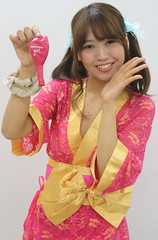 Why Is She Holding That? (emotiroi auranaut) Tags: girl woman lady beauty beautiful kimono lovely smile smiling toy balloon birthdaygirl scrunchie