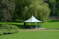 Scenic Miller Park, Preston (Tony Worrall) Tags: preston lancs lancashire city welovethenorth nw northwest north update place location uk england visit area attraction open stream tour country item greatbritain britain english british gb capture buy stock sell sale outside outdoors caught photo shoot shot picture captured ilobsterit instragram photosofpreston park millerpark sunlit natural seasonal green canopy bandstand pavillion