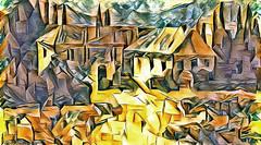 Lens & Brush 9 (V_Dagaev) Tags: art architecture building house digital dynamicautopainter visualdelights painterly painting village landscape