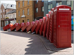 Out Of Order 1 (Mabacam) Tags: 2019 london kingstonuponthames kingston sculpture artinstallation telephoneboxes telephonekiosks towncentre outoforder davidmach