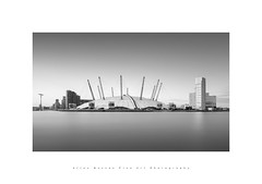 Millenium Dome.. (LoneWolfA7rii) Tags: art architecture bw black blackandwhite city uk longexposure light london mono monochrome outdoors river sony thames water white