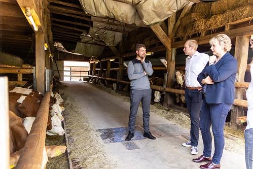 Austausch mit Karin Logemann MdL und den Junglandwirten Ammerland auf dem Hof von Felix Müller in Lehmden.