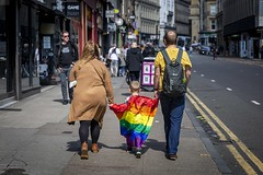 Mother's Pride (Leanne Boulton) Tags: urban street candid streetphotography candidstreetphotography streetlife socialdocumentary sociallandscape reportage story man woman male female parents child anonymous rainbow flag pride lgbtq glasgowpride2019 mother father tone texture detail depthoffield bokeh naturallight outdoor sunlight light shade city scene human life living humanity society culture lifestyle people canon canon5dmkiii 70mm ef2470mmf28liiusm color colour glasgow scotland uk