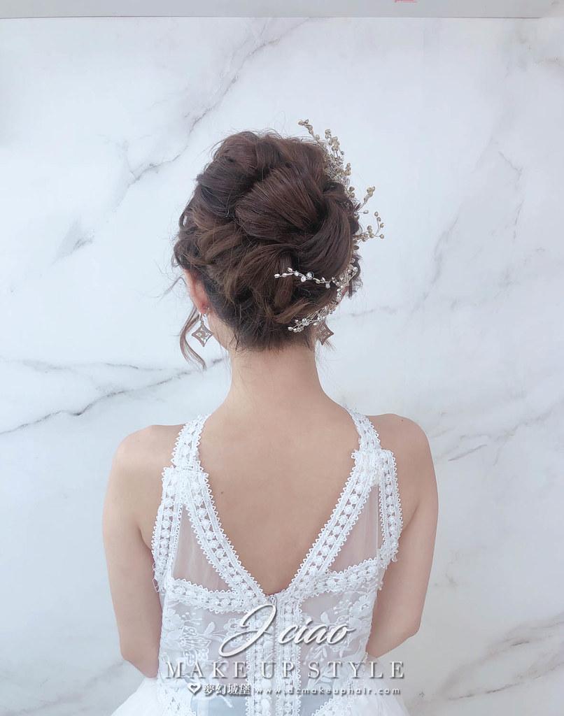 【新秘婕喬】新娘造型創作 / 氣質甜美白紗造型