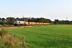 Hoogeveen, Bauertrein over linkerspoor (1) (Ahrend01) Tags: hoogeveen verkeerd spoor rheincargo de668 bauer containertrein