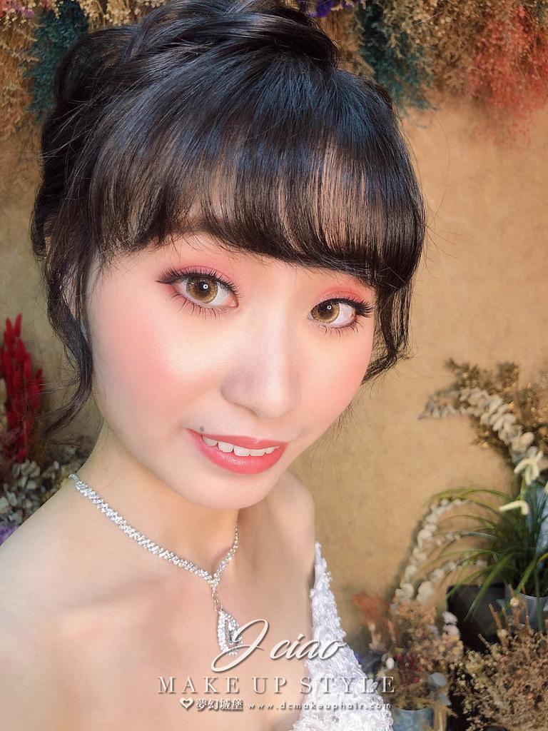 【新秘婕喬】新娘造型創作 / 乾燥花盤髮