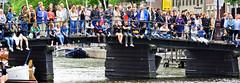 The human fence (Hans Veuger) Tags: amsterdam audience nederland thenetherlands muziek kloveniersburgwal publiek amsterdamcentrum compagnietheater bridge people music fence nikon coolpix brug rusland twop hff b700 nederlandvandaag unlimitedphotos fencefriday grachtenfestival tourists toeristen