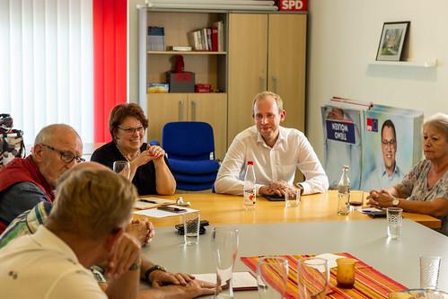 Gespräch mit der Arbeitsgemeinschaft 60plus der SPD Ammerland in Bad Zwischenahn.