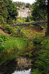 Cragside reflection or spot the photographer (WISEBUYS21) Tags: cragside national trust lord william armstrong 1st baron rothbury nor northumberland northeastofengland victorian reflection reflections house iron bridge gorge green grass trees river photographers people wisebuys21 free public domain bamburgh castle jesmond dene newcastleupontyne post card shot