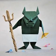 Bad boy (pierreyvesgallard) Tags: origami demon jun maekawa devil fork hiroaki kobayashi crane tsuru paper papercraft