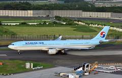 Korean Air, HL7550, Airbus A330-223 at NRT (tokyo70) Tags: japan travel tour koreanair a330