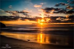 Aurea aurora (Miquel Millán) Tags: aurora sunrise amanecer albada beach playa platja sea mar mediterranean mediterraneo mediterrani nikon d5100 coast costa panorama landscape seascape sun sol clouds núvols nubes water aigua agua garraf dawn