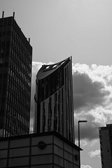 Strata looming (dwimagesolutions) Tags: england london elephantandcastle strata apartments bw lunchtime nikond7200 zoomnikkor1870mmf3545