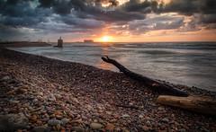 Amanecer en el Grau Vell, Sagunt. (:) vicky) Tags: amanecer sunrise sol marjal mar nubes clouds contraluz playa panorámica abigfave
