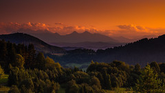 Tatras from Palenica (Andrzej Kocot) Tags: andrzejkocot art adventure landscape action landscapes creative clouds colors countryside sky surreallandscape sunset sunlight surreal skyline sunsetmood tree olympus omd outdoor poland polska fineart hitech elitegalleryaoi bestcapturesaoi aoi
