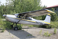 N4733U - 1964 build Cessna 180G Skywagon, parked at Big Lake (egcc) Tags: 18051433 180g alaska bgq biglake biglakeairport ce180 cessna cessna180 cosgrove lightroom matanuskasusitna n4733u pagq skywagon