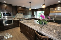 #KitchenRemodel with APlus custom dark #cabinets custom Island & wood floor in the city of #LagunaHills #OrangeCounty https://www.aplushomeimprovements.com/portfolio_page/laguna-hills-design-build-kitchen-remodel-with-custom-cabinets-orange-county120/ (Aplus Interior Design & Remodeling) Tags: kitchenremodel kitchen kitchenrenovation kitchencabinets kitchenandbath orangecounty oc orange california customcabinets contracting contractors construction countertop custom design decor designers wood