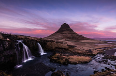 Kirkjufell - Mountain (marcel.weber89) Tags: mountain landscape nature sky mountains clouds sunset travel blue sunrise view iceland cloud rock valley volcano scenic beautiful volcanic outdoor tourism scenery peak sun dusk dawn winter waterfall kirkjufell kirkjufellfoss stream sea pink red icelandic atlantic snaefellsnes nordic europe north colourful island