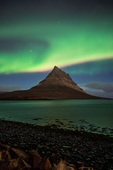 Kirkjufell Mountain with northern lights - Iceland - Winter (marcel.weber89) Tags: landscape mountain nature sky blue mountains travel clouds volcano iceland cloud island water rock wild outdoors scenic beautiful outdoor road europe waterfall night stars nightsky aurora northernlights river snaefellsnes sea scenery winter atlantic stream light green icelandic nordic north dark landscapephotography photgraphy traveling view hill