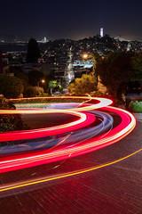 Lombard Street (s1price) Tags: san francisco california lombard street crooked twisty night long exposure canon eos r rf 35mm light lightrail lightrails lightroom urban evening zoom usa summer 2019 nightscape