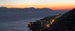 After the sunset at Loutraki, Greece (man_sid11) Tags: tokinaatx90mmf25macro sunset sea sky colours dusk water landscape light orange panorama loutraki corinth