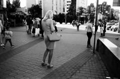 Backs (dmitriy.marichev) Tags: leicamp leica leicam summilux summiluxm35mmf14asphsummiluxm street city bottom lines woman lady rangefinder adox silvermax 100 monochrome bw dmitriymarichev