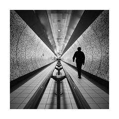 Purpose (GlennDriver) Tags: uk england urban bw white black london station train canon underground square fineart rail symmetry nd bnw