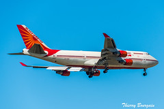 [CDG] Indian Government Boeing 747-400 _ VT-ESO (thibou1) Tags: thierrybourgain cdg lfpg spotting aircraft airplane nikon d810 tamron sigma narendramodi indianrepublic vteso boeing boeing747 b747 b747400 b744 landing airindia vip