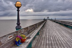 Clevedon Pier (Nige H (Thanks for 25m views)) Tags: landscape seascape pier somerset england clevedon clevedonpier flowers planks sky cloud summer