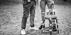 Schnelles Feierabendbier (Traveller_40) Tags: alcohol augustiner bar beer beverage bier bierhocker biertisch bluejeans brewery chair city cobble cobblestone drink fashion floor foam froth fun glass gold ground hocker hose iloveaugustiner jeans leisure man münchen old outdoors pattern pavement people pub recreation restaurant road rock schnellesbier schuhe sidewalk sneaker standbier stone street texture travel trousers two urban viktualienmarkt wear young bw biancoenero blackwhite blackandwhite blancoynegro monochrome monocromático nb noirblanc noiretblanc pretoebranco 单色白黒