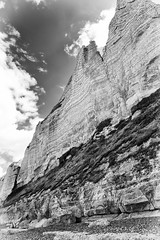 sharpness (the ripped bystander) Tags: fécamp cliff falaise rock rocher blackwhite