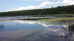 My Tranquility and Solitude...Inside and Out... (Art of MA Foto Stud) Tags: rhodeisland lake park pond water forest canoe fishing summer 2014 woods reflection