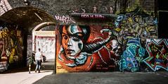 Stinger (Bone Setter) Tags: streetphotography digbeth custardfactory arches graffiti art streetart birmingham floodgatestreet film kodak portra400 birminghammail