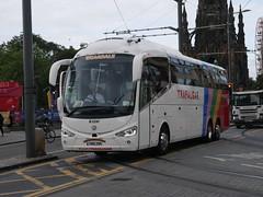 Weardale of Stanhope Irizar I6 Integral YN18ZNR, in Trafalgar Tours livery, at Princes Street, Edinburgh, on 19 August 2019. (Robin Dickson 1) Tags: busesedinburgh weardaleofstanhope irizari6integral yn18znr trafalgartours