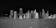 Lower Manhattan (Piotr_PopUp) Tags: manhattan lowermanhattan newyorkcity newyork ny nyc eastriver city cityscape water urban architecture buildings building river unitedstates us usa blackandwhite blackwhite bw bnw mono monochrome