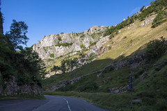 Early Morning Cheddar (music_man800) Tags: cheddar gorge somerset england uk united kingdom pretty scenery spectacular rocks rocky road cliffs nature natural light sunny morning early dawn august 2019 summer roadtrip blue sky lighting shadows contrast trees sheer stark landscape scene canon 700d adobe lightroom creative cloud edit photography arty artistic outdoors outside drive