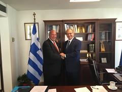 Συνάντηση Υφυπουργού Εξωτερικών, Α. Διαματάρη, με πρόεδρο της Ομοσπονδίας Ελληνικών Σωματείων Μείζονος Νέας Υόρκης, Κ. Μεϊμαρόγλου (Αθήνα, 23.08.2019) (Υπουργείο Εξωτερικών) Tags: διαματαρησ υφυπεξ ελλαδα αθηναομοσπονδιαελληνικωνσωματειωνμειζονοσνεασυορκησ μεϊμαρογλου diamataris mfaofgreece athens newyork usa meimaroglou