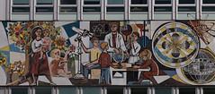 Haus des Lehrers (michael_hamburg69) Tags: berlin germany deutschland building architektur architecture mosaic mosaik kunst art ddr formergdr alexanderstrase9 hausdeslehrers hdl alexanderplatz berlinmitte 1961–1964 artist künstler walterwomacka bauchbinde fries mosaikfries unserleben bilderausdemgesellschaftlichenlebenderddr