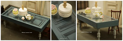 Handmade Dollhouse Furniture Kitchen - Kitchen Table - 1/12 Dollhouse Miniature Scale (charles fukuyama) Tags: vintage frenchkitchen door dollandminiatures wooden homedecor unique kikuikiestudio