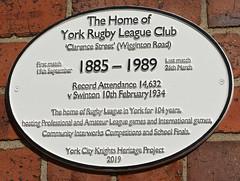 Passing History (Feversham Media) Tags: yorkrugbyleagueclub rugbyleaguegrounds rugbyleague york wiggintonroad clarencestreet northyorkshire yorkcityknightsheritageproject