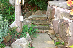 Up the garden path. (Yesteryear-Automotive) Tags: gardenpath path builtwithstone localstone stone rock smileonsaturday