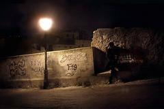 I STILL SOMEWHERE (PeachySick11) Tags: town street city underground spotlight edgy creepy syniester streetlight light boy standing graffity grafity grafiti calle noche night isolated asolado desolado anxiety ansiedad dity suburbs farola obscure oscuro dark photo ghost