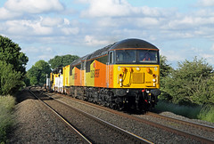 56302 56087 Burbage Common (CD Sansome) Tags: train trains colas rail barwell foot crossing hinckley elmesthorpe burbage common road 6x56 scunthorpe bsc long marston live 56 56302 56087 grid