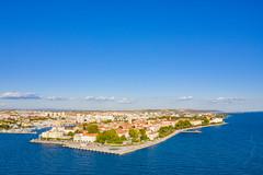 Blick auf den nordwestlichen Teil von Zadar, Kroatien