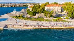 The Sea Organ on the waterfront of Zadar, Croatia