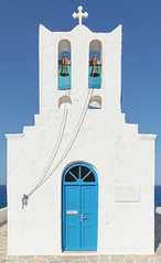 Church of the Seven Martyrs 2 (josullivan.59) Tags: 2019 agean artistic castro greece greek island june orthodox sifnos architecture blue church clear cyclades day door europe geometric historical islands light old outside scenic sea texture travel wall white wallpaper weather outdoor architectural greekislands minimalism
