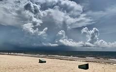 Better safe not to sail today (Aurélien Latour) Tags: sea sky apple nature méxico clouds yucatan mexique dramaticsky iphone water landscape