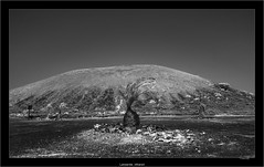 Lanzarote, infrared (Dierk Topp) Tags: a7r bw ilce7r ir sony1635mmvariotessartfef4zaoss volcanoes canaryislands infrared islascanarias lanzarote monochrom mountains sw sony